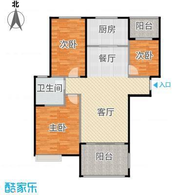 碧桂园城市花园108.00㎡户型3室2厅1卫