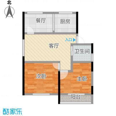 博众新城二期101.00㎡x户型2室2厅1卫1厨