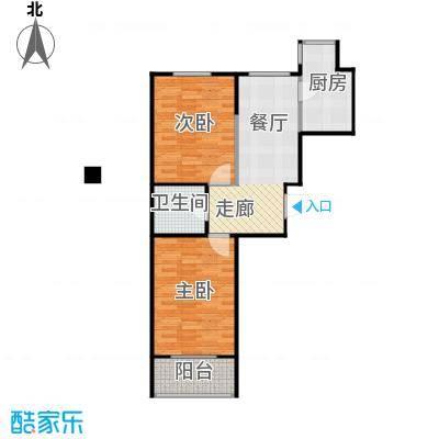 博众新城二期74.00㎡A(B)户型2室1卫1厨