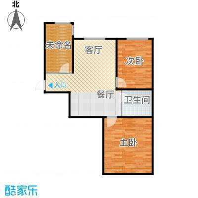 博众新城二期74.00㎡加推2户型2室1厅1卫