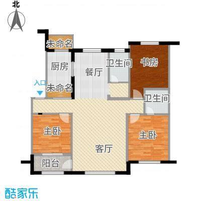 华航怡景康城125.00㎡户型3室2厅2卫