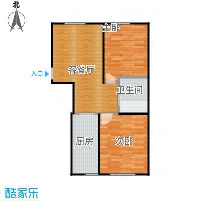 东皇君园83.00㎡G户型2室1厅1卫