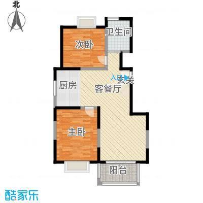 丽景翠庭87.38㎡丽景翠庭户型图c1型2室2厅1卫1厨户型2室2厅1卫1厨