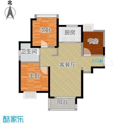 中铁滨湖名邸78.90㎡B3-2户型3室2厅1卫
