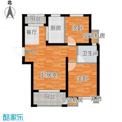 淮矿东方蓝海92.00㎡D户型2室2厅1卫