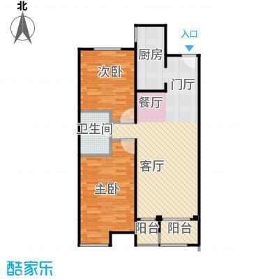 首地首城91.09㎡A户型2室2厅1卫