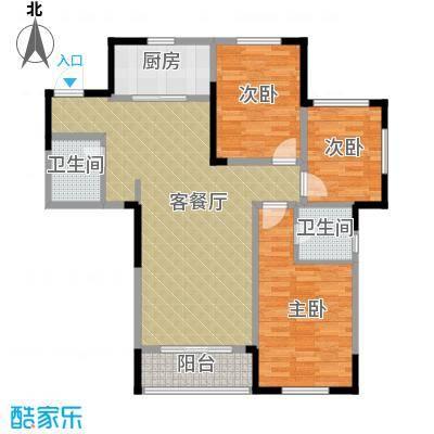首地首城114.09㎡二期P户型3室2厅2卫