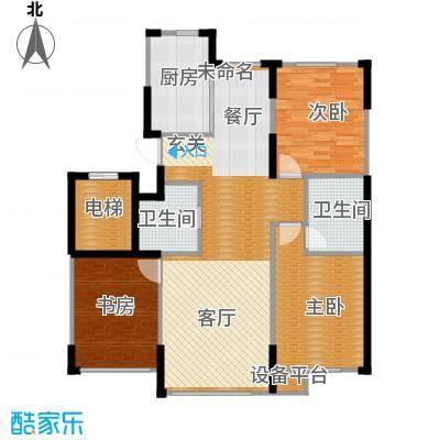 首地首城117.00㎡三期轩邸户型3室2卫1厨
