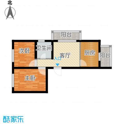 东皇先锋57.75㎡I户型2室1厅1卫1厨