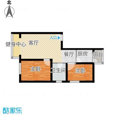 东皇先锋71.62㎡H户型2室1厅1卫1厨