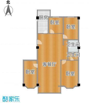 领秀金川121.33㎡户型1厅2卫1厨