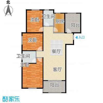保利拉菲公馆136.00㎡A1户型3室2厅2卫