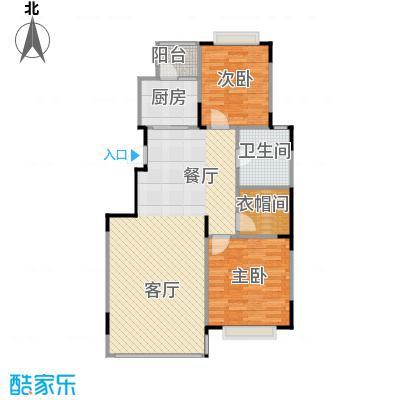 天安第一城103.27㎡四期�庭B户型2室2厅1卫