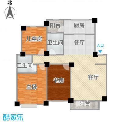 保利罗兰香谷123.20㎡户型3室1厅2卫1厨