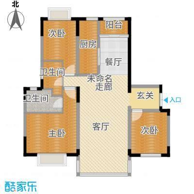 天安第一城144.23㎡四期�庭C户型3室2厅2卫