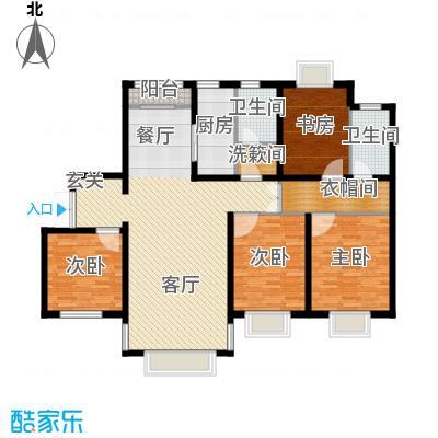 天安第一城155.18㎡四期�庭F户型4室2厅2卫