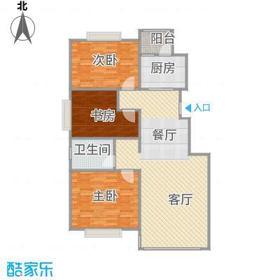 天安第一城115.00㎡四期�庭A户型3室2厅1卫