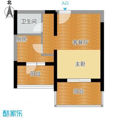 文华阁47.39㎡户型1室1厅1卫
