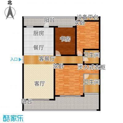万联・晋海174.71㎡B1户型3室2厅2卫