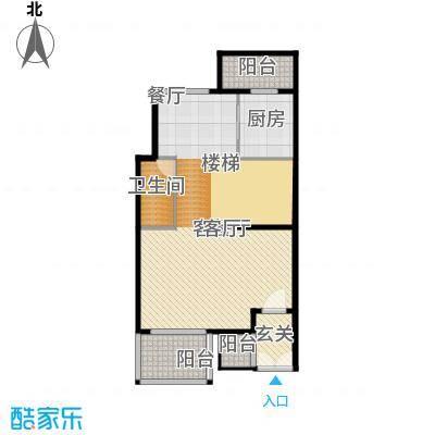 原树提香86.82㎡别墅产品一层平面图户型10室