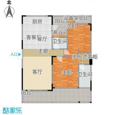 万联・晋海C1户型2室1厅2卫