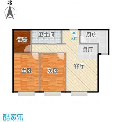 凤凰国际95.05㎡+衣帽间A2户型2室2厅1卫