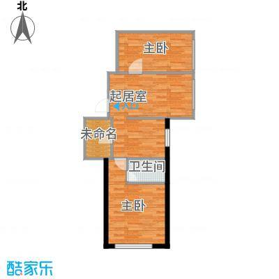 奥林小镇52.94㎡B栋2单元两室户型2室2厅2卫