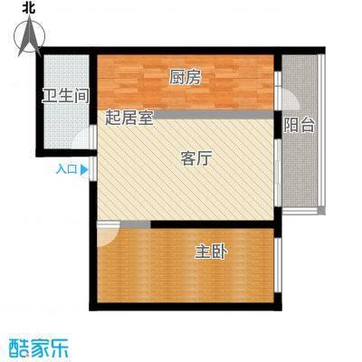 明珠公寓91.57㎡I户型1室1厅1卫户型1室1厅1卫