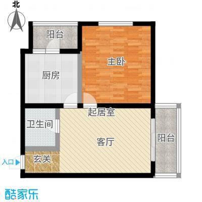 明珠公寓83.67㎡F户型1室1厅1卫户型1室1厅1卫