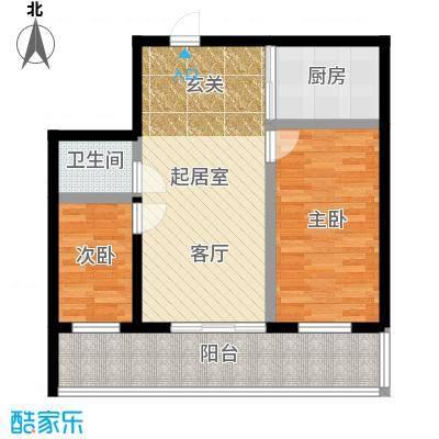 明珠公寓87.14㎡G户型2室1厅1卫户型2室1厅1卫