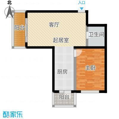 明珠公寓89.63㎡H户型1室1厅1卫户型1室1厅1卫
