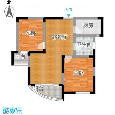 水墨兰庭73.43㎡37#38#39#金领公寓C户型2室1厅1卫1厨