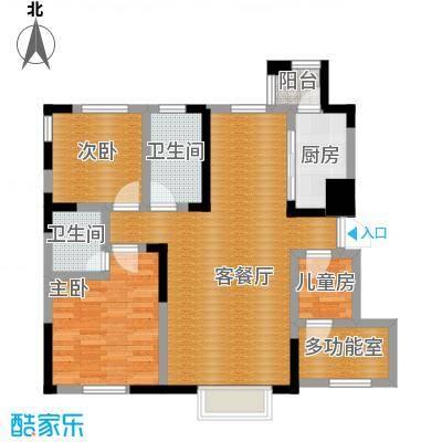 益田枫露101.00㎡二期B1户型3室2厅2卫