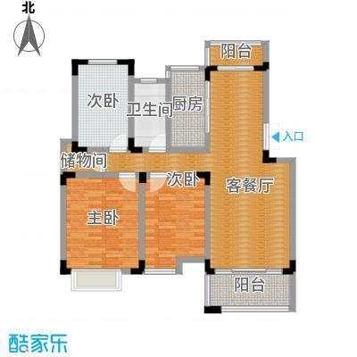 颐园世家104.13㎡户型3室1厅1卫1厨