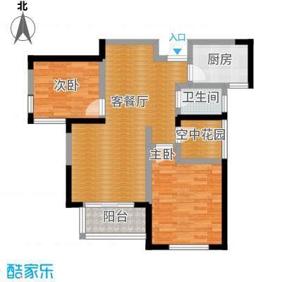 圣联梦溪小镇88.00㎡户型2室2厅1卫