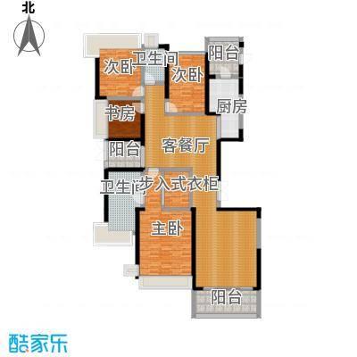 恒大华府210.00㎡标准层01户型4室1厅2卫1厨