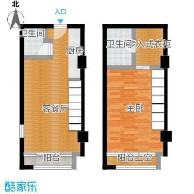 天正天御溪岸39.00㎡商六小公寓户型1室1厅2卫