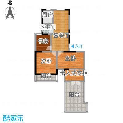 光盛豪庭103.00㎡+超大观景露台户型4室2厅1卫