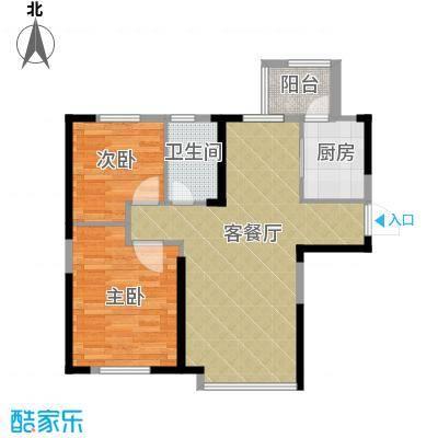 益田枫露90.00㎡二期G2户型2室2厅1卫