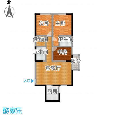 金色梧桐122.00㎡户型3室2厅1卫