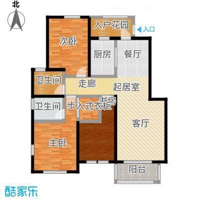华菁水苑122.00㎡户型3室2卫1厨