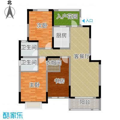 华菁水苑122.96㎡标准层E户型10室