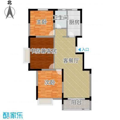 华菁水苑108.94㎡标准层B户型10室