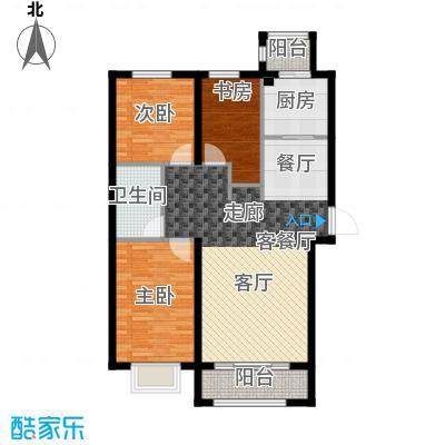 天旺名都111.92㎡天旺名都一期1#、2#楼B户型图户型3室2厅1卫