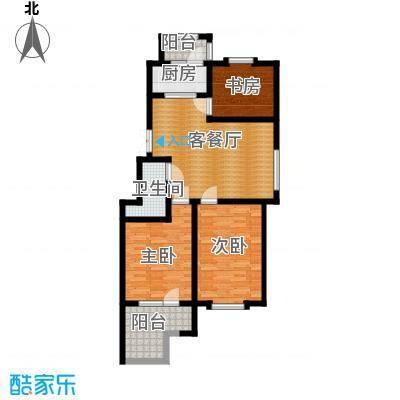 中天富城94.76㎡A1户型3室2厅1卫