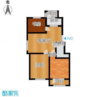 中天富城95.76㎡A户型3室2厅1卫
