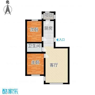 宇光万和城93.76㎡12号楼户型2室1厅1卫