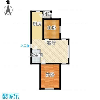 宇光万和城90.13㎡1号楼户型2室1厅1卫