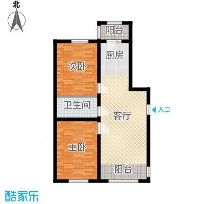 宇光万和城97.88㎡2号楼户型2室1厅1卫