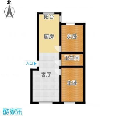 宇光万和城85.38㎡3号楼户型2室1厅1卫